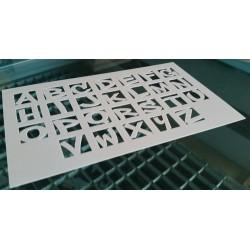 Scrapbooking Gabarit Pochoir Alphabet 3 (08920)