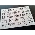 Pochoir Alphabet - Lettres majuscules et minuscules 2,5 cm (00169)