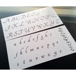 Pochoir alphabet - Lettres et Chiffres 2,5 cm (00170)