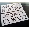 Pochoir Alphabet - Lettres majuscules 5 cm (00168)