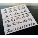 Pochoir alphabet - Lettres et Chiffres 2,5 cm (00167)