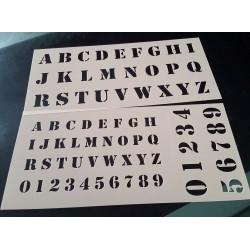 Pochoir alphabet - Lettres et Chiffres 2,5 cm (00175)