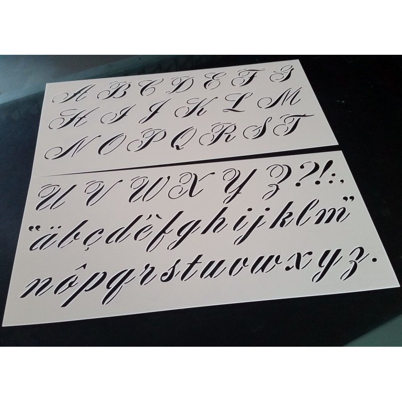 Pochoir alphabet - Lettres 3 cm (00182)