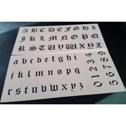 Pochoir alphabet - Lettres et Chiffres 2,5 cm (00177)