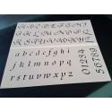 Pochoir alphabet - Lettres et Chiffres 2,5 cm (00172)