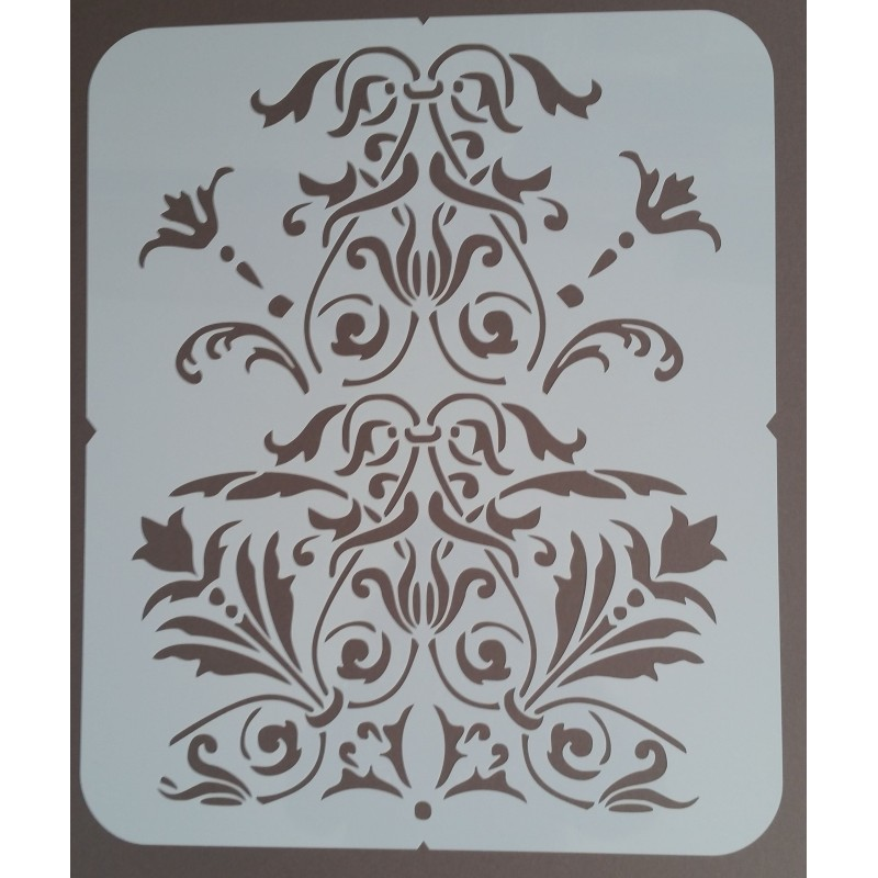 Grand  Pochoir Baroque 1 - 35x42 cm