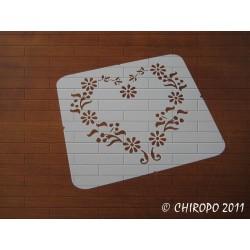 Pochoir Mini coeur 2 - Baroque (06551)