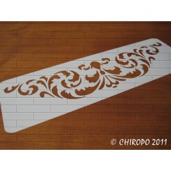 Pochoir Frise Damas (0619-F14) - 14x42 cm