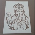 Pochoir Elephant oriental