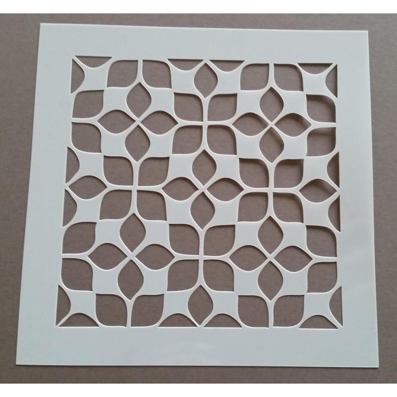 Pochoir carreau de ciment 1 - 15x15 cm -