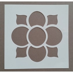 Pochoir carreau de ciment 1 - 15x15 cm -
