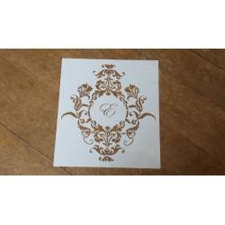 Cadre baroque 2 avec une lettre au choix