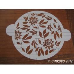 Pochoir à gâteaux - 26 cm - Branchages de Fleurs (07659)