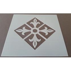 Pochoir carreau de ciment 16 - 15x15 cm