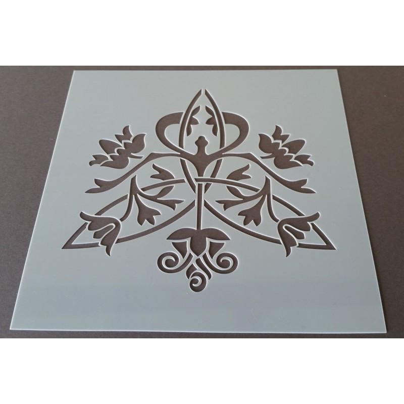 pochoir carreau de ciment 21 15x15 cm. Black Bedroom Furniture Sets. Home Design Ideas