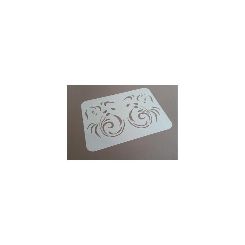 Grand pochoir motifs Aztèque - 48x48 cm