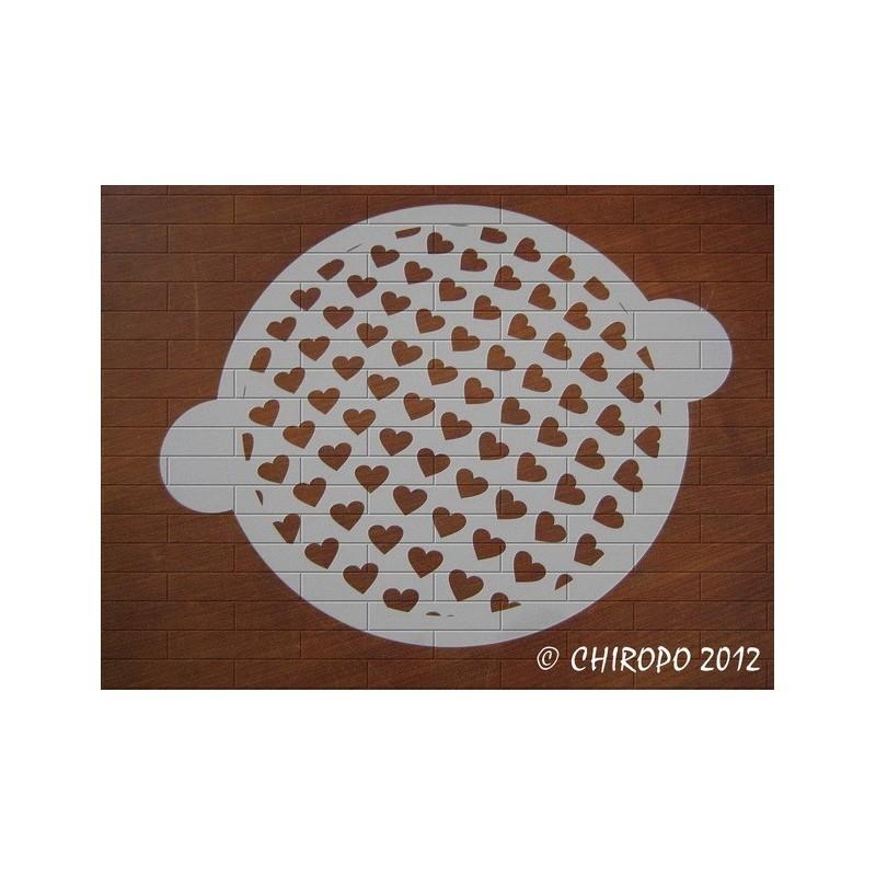 Pochoir à gâteaux - Les coeurs (07739)