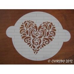 Pochoir à gâteaux - 26 cm - Grand coeur (07729)