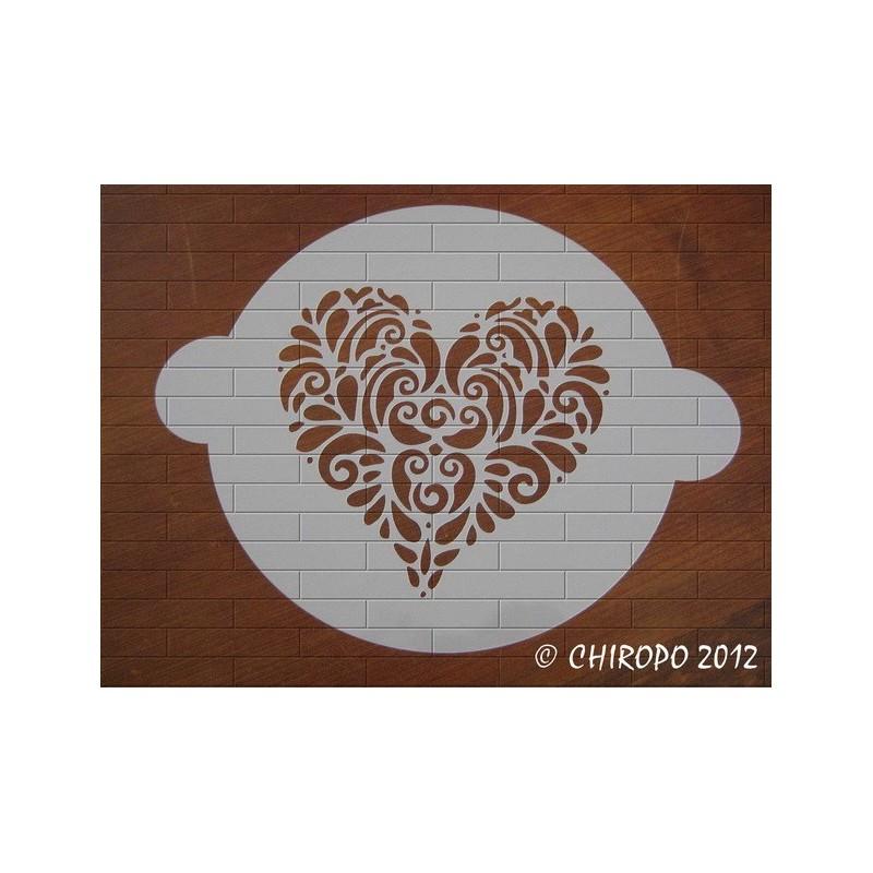 Pochoir à gâteaux - Grand coeur (07729)
