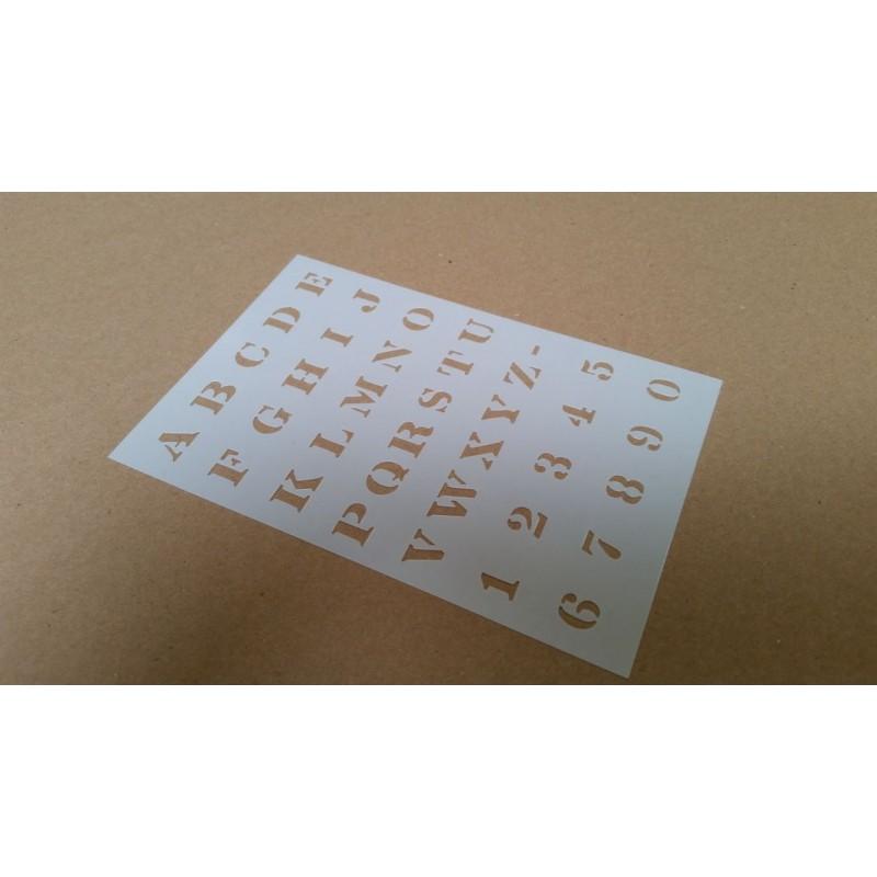 Pochoir alphabet Majuscules 2 cm