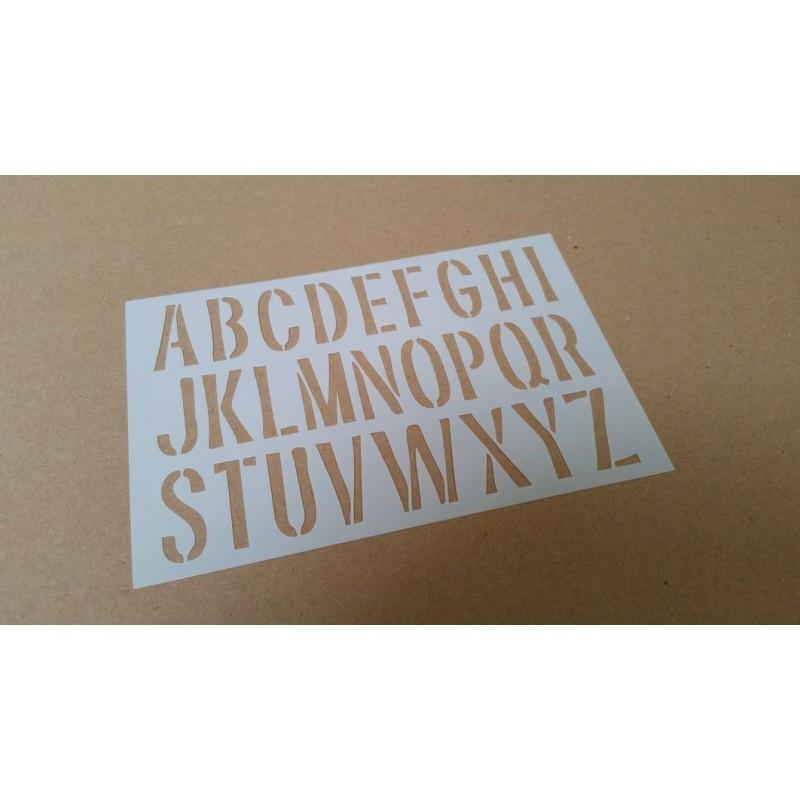 Pochoir alphabet Majuscules 2,5 cm