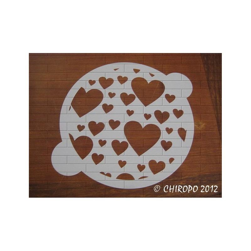 Pochoir à gâteaux - Coeurs en folies (07639)