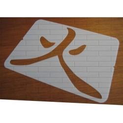 Pochoir Calligraphie chinoise - Feu (03581)